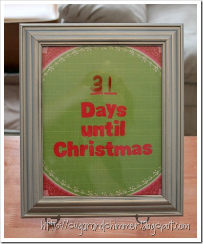 DIY Christmas Countdown v3