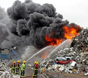 Nechells scrap yard blaze