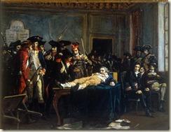 Robespierre agonise à l'Hôtel de ville par L-E Melingue