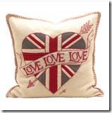 Jan Constantine Union Jack Heart Cushion