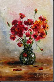 Poppies in Glass Vase 6x4.jpg 1