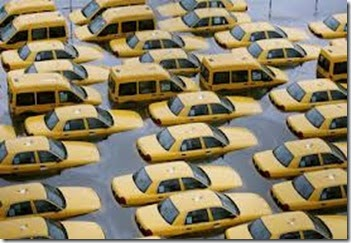 sandy - flooded taxi fleet - nj.com photo