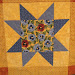 Machine Quilted Variable Star, 41x41