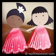 paper cupcake liner doll 05
