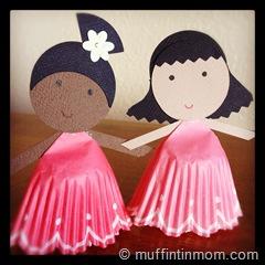 paper cupcake liner doll 05