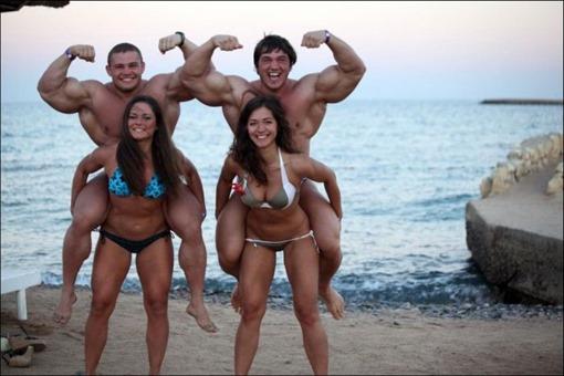 Русская молодежь на пляже