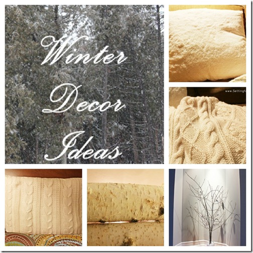 Five Winter Decor Ideas from Setting for Four #winter #decor #design #tip