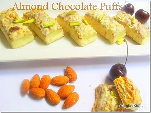 Almond Chocolate Puff Pastry recipe