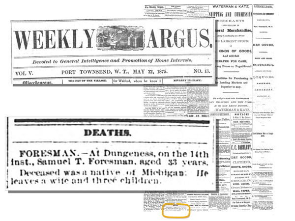 Death notice of Samuel T. Foresman
