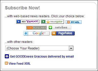 Goodeness Gracious RSS feed