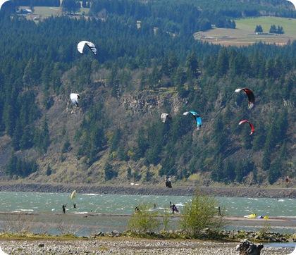 kite boarders