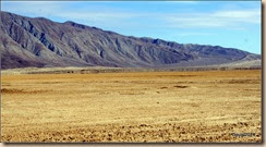 Looking across the dry lake bed