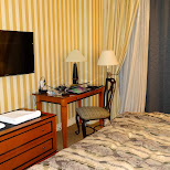 my hotel room at Hotel Le Soleil in Vancouver, British Columbia, Canada