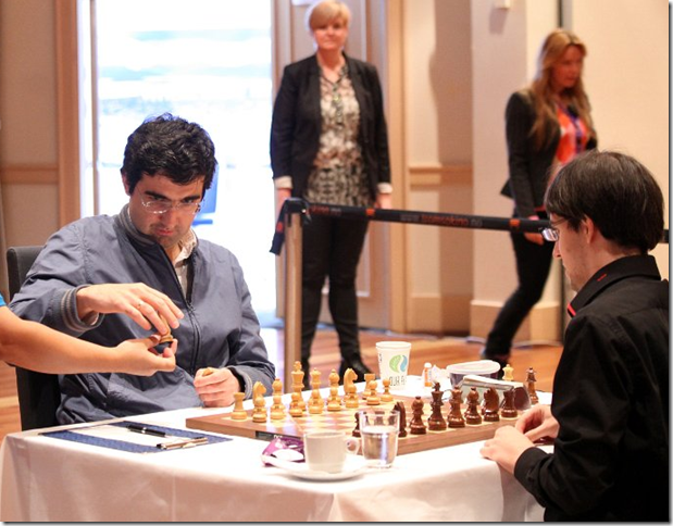 Kramnik choosing his pieces