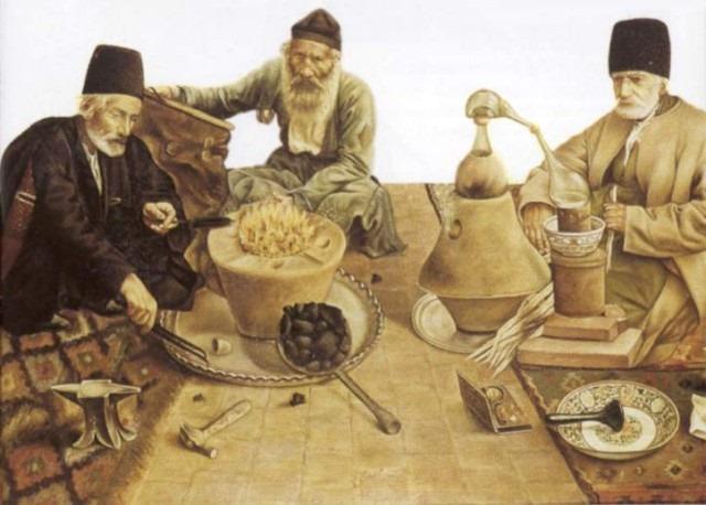 Alquimistas y la piedra filosofal