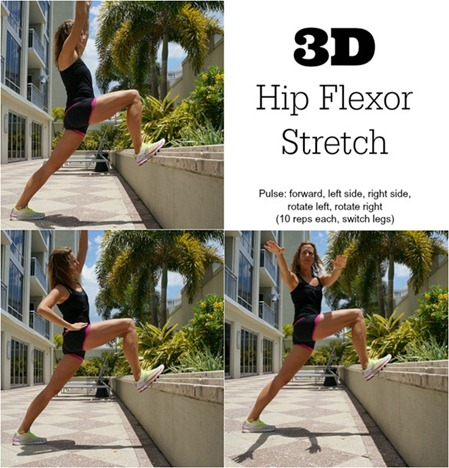 Hip Flexor Stretches - click for more details on how to improve hip stability and reduce IT Band pain