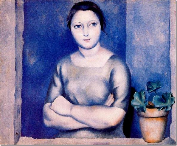 Josep de Togores i Llach -Mujer con los brazos cruzados -1926