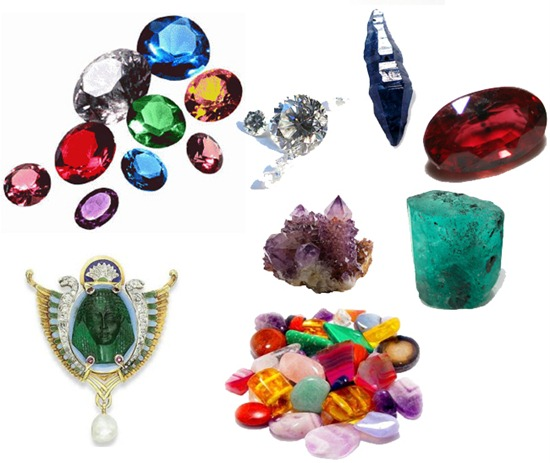 19th century's organic gemstones