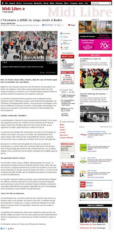 Manifestacion de Rodés Midi Libre