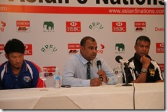 dent Asanga Seneviratne speaking at today's press confernece. right