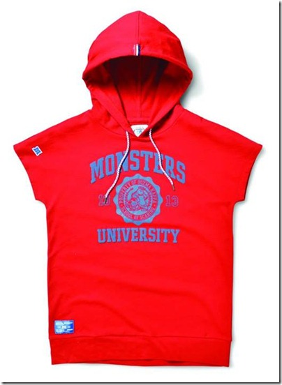 Monster University X Giordano - Red hoodie