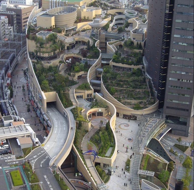 Зелёные крыши в Японии