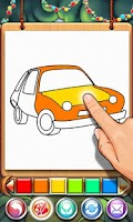 Screenshot of Coloring Book Car-draw game