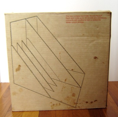 Heller Record (LP) Racks by Giotto Stoppino for Heller box, back
