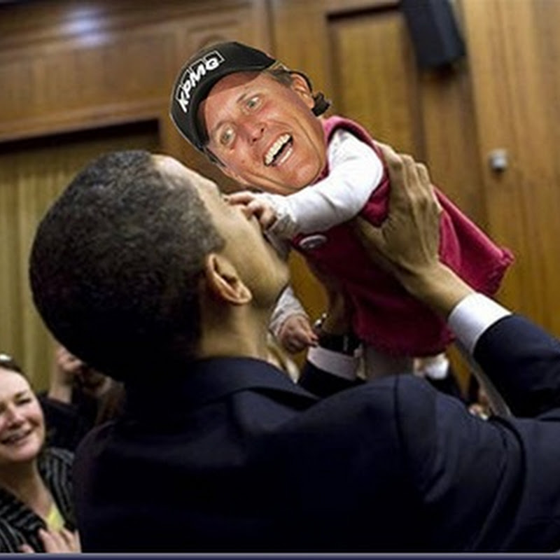 Pic Of Phil Mickelson Meeting Obama on Eve of 2011 US Open