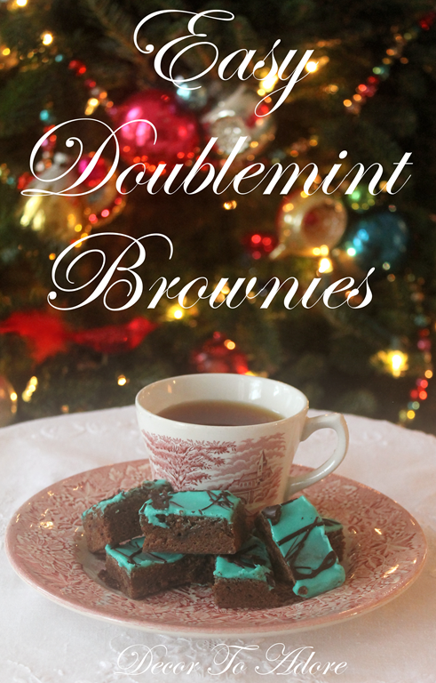 Easy Doublemint Brownies