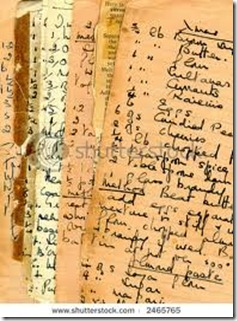 vintage handwritten recipes