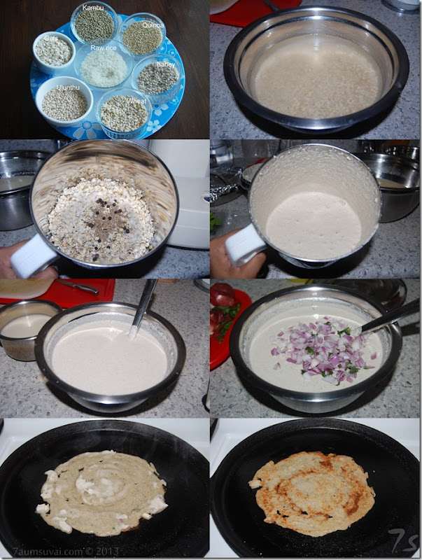 Whole grains adai process