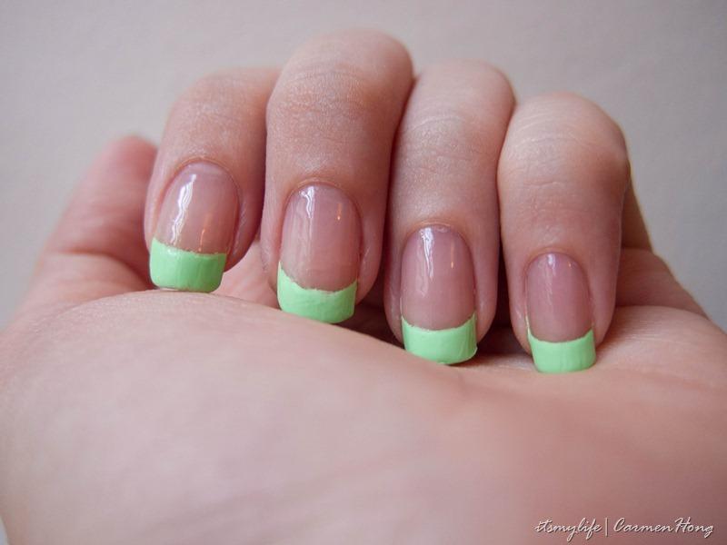 Nail Art: Neon Green Tips | It\'s my life.