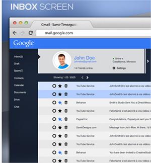 9 diseños radicales sobre el rediseño de Gmail