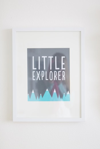 Little Explorer Print from alexa z design
