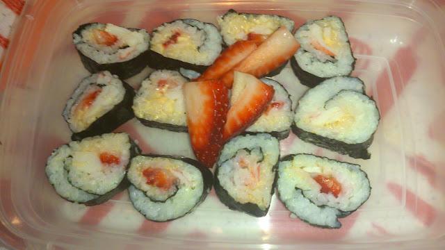 Enceinte? Sushis de goberge et fraise!