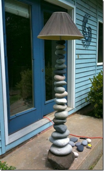friday feature--diy stacked stone floor lamp from ashbee design blog