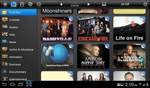 Samsung Galaxy Tab2 SmartPeel remote app