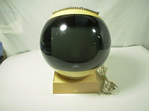 JVC Videosphere black and white television model 3240AQC front