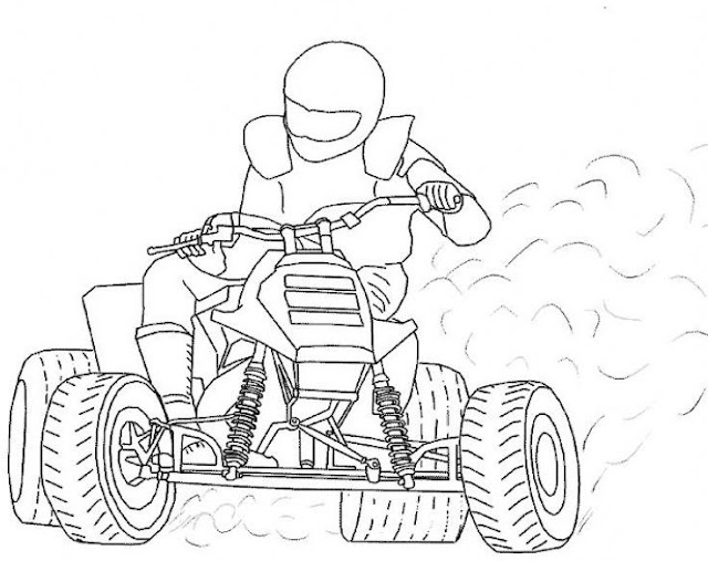 Colorear dibujos de quads dibujos para colorear - Quad a colorier ...