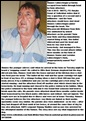 LABUSCHAGNE Hannes 50 of Brits farm attackers aimed for his head he is lucky to survive