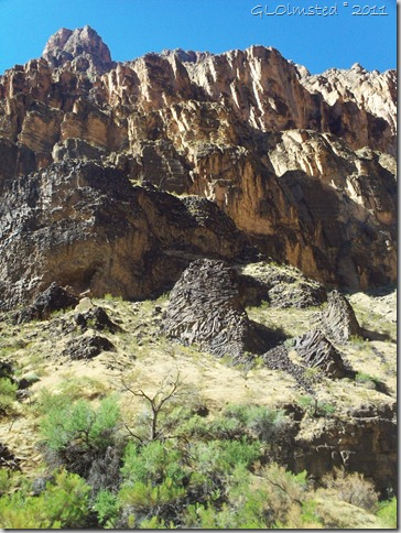 09 Basalt along the canyon walls Colorado River trip GRCA NP AZ (768x1024)