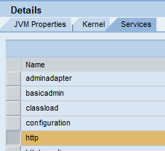 SAP NWA System Properties despatcher http service