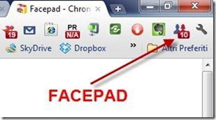 facepad estensione per chrome