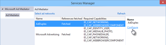 Configuring ad network in AdMediator Services Manager (www.kunal-chowdhury.com)