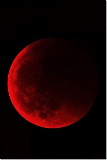 Luna, atmosfera, luna de sangre, luna roja