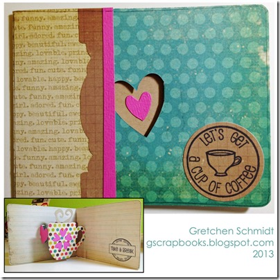 Let's Get A Cup of Coffee with Mug & Heart Pop `n Cuts by @gscrapbooks