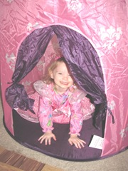 Christmas Day 2012 Bellz inside tent castle