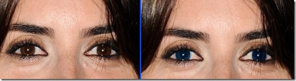 Cambiare colore occhi con GIMP - Penelope Cruz