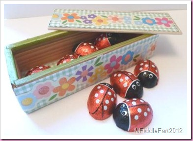 Easter Chocolate Ladybird Box